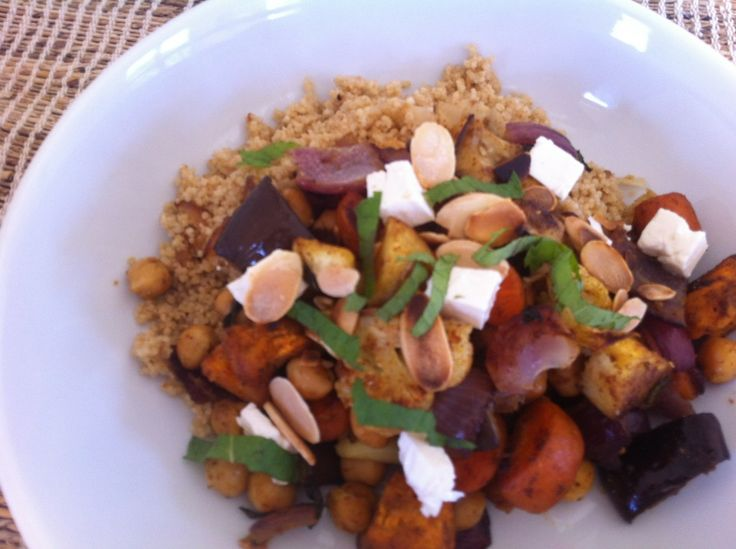 Moroccan Roasted Vegetables w/ Cous Cous - Mayabugs's Recipes