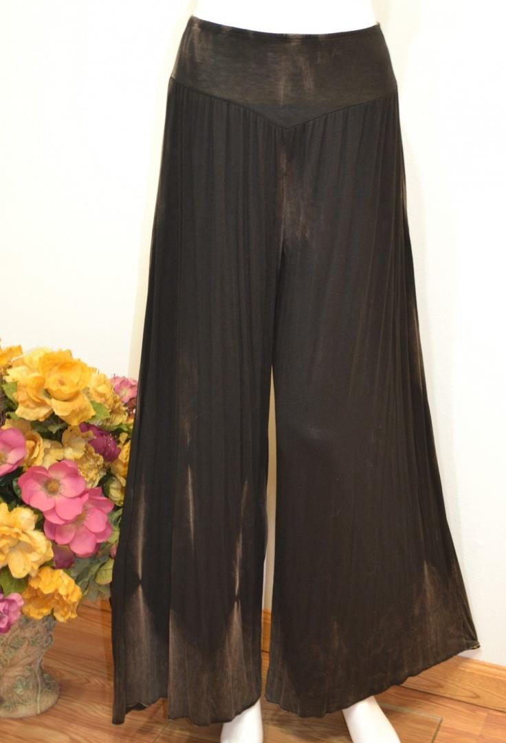Hayaa Clothing - Dark Brown Bamboo Tie-Dye Design Wide Leg Palazzo Pants ,(http://www.hayaaclothing.com/dark-brwon-bamboo-tie-dye-design-wide-leg-palazzo-pants/)