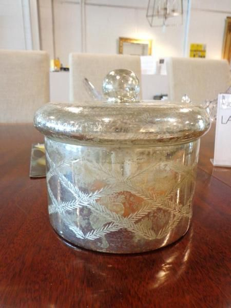 Covered jar with large candle #galeriem #montreal #candle #decor #jar #accent #chic