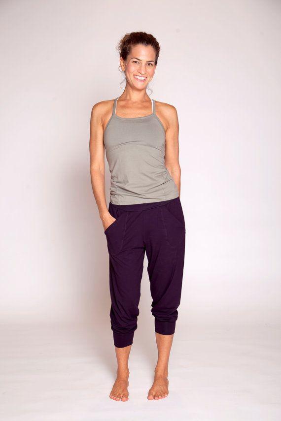 Slouchy Capri Yoga Pants - workout pants yoga clothing - loose pants - casual pants - yoga wear - gym pants - workout loose pants This pair of capri