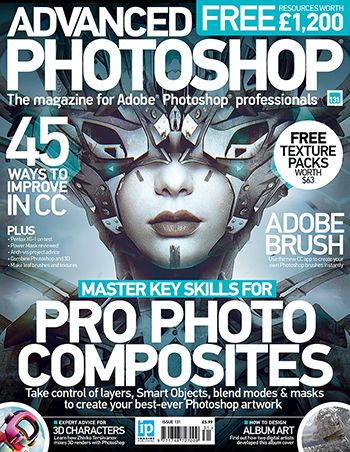 Advanced Photoshop magazine is packed full of expert advice for mastering professional Photoshop techniques. Each edition has in-depth tutorials inspired by the latest commercial trends covering all the key Photoshop skills. The magazine also has inspirational interviews and tailored Photoshop features looking in more detail at the creative industry. This issue discover 45 ways to improve in CC, as well as master key skills for pro photo composites, create game art and more.