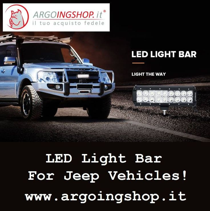 ✔ LED Light Bar For Jeep Vehicles!  🚍 The ArgoingShop offers light bars, flood LED light bar, LED driving lights, headlights, tail lights, fog lights & lighting accessories for all Jeep vehicles in Italy & Europe Market.  ✔ Visit Shop Here: www.argoingshop.it  . . . . . . #LEDLights #LED #Jeep #SpotLightBars #LightBar #LEDLightBar #Headlights #TailLights #FogLights #ArgoingShop #Italy #Europe