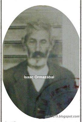 """Isaac Ormazábal (?-1929). 1879, a los 16 años se enroló en el Batallón """"Vichuquén"""" y posteriormente en la 4° compañía del Batallón cívico Aconcagua. En octubre de 1879 pasa al Batallón Cazadores del desierto. No hay registro de las batallas en las que participó. http://gdp1879.blogspot.cl/2012/08/isaac-ormazabal.html"""