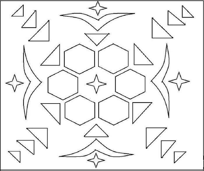 rangoli coloring printable page 1 for kids