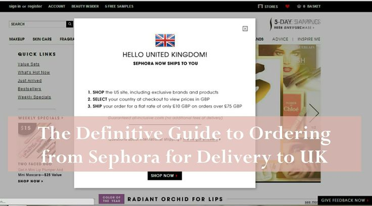 The Definitive Guide to International Ordering from Sephora to the UK