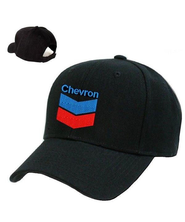 ecb91d7fef1 *CHEVRON*Gas Station Black Embroidery Adjustable Baseball cap Souvenier Gift  Unique Hat CK127AIC74R -