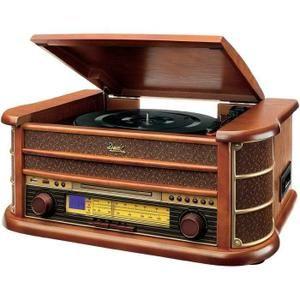 Radio tourne-disque Dual NR 4 bois - radio cd cassette, avis et prix pas cher - Cdiscount