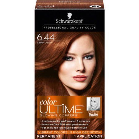 Schwarzkopf® Color Ultîme® Glowing Coppers 6.44 Desert Copper Hair Color Box, Brown