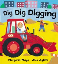 Diggers are good at did, dig, digging. They can work all day! This board book edition of a noisy, busy, bestselling picture book with fun rhyming text and bright, bold artwork is jam-packed with diggers, tractors, rubbish trucks, fire engines, cranes and other favourite machines. Perfect for machine-mad little ones!