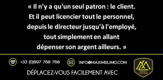 Citation et proverbe chauffeur privé - Maxim's Limousine
