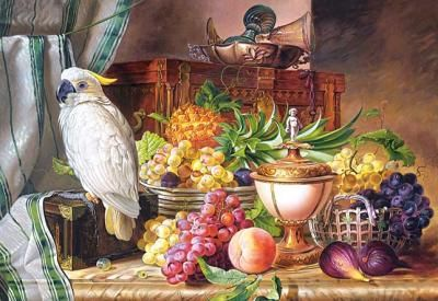 """Puzzle Castorland 3000 """"Still Life With Fruit and a Cockatoo"""""""
