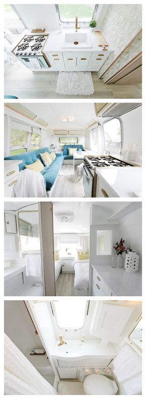 See the before and after photos of a 1976 Land Yacht International Airstream renovation. The prettiest airstream ever. Come get inspired!