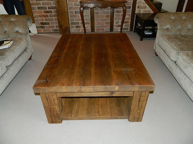 Reclaimed Wood Hudson Coffee Table With Shelf #eatsleeplive