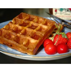 Belgian Waffles.  I make these the night before and the batter sit in the fridge overnight.  Perfection!!