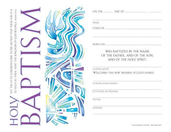 13 best baptism images on Pinterest Printable certificates - copy baptism certificates free download