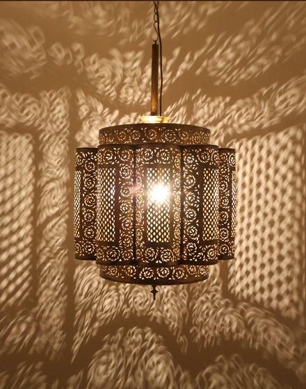 Antique Brass Moroccan Ceiling Lamp From Moroccan Bazaar