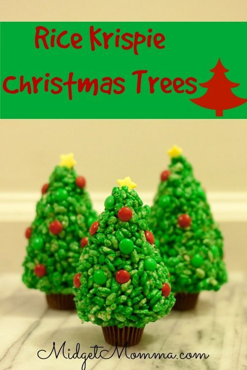 Rice Krispie Christmas Trees. Easy to make and the kids LOVE them!