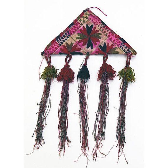 turkmen embroidered amulet