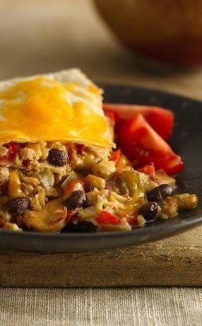 No time to roll enchiladas? Enchilada casserole to the rescue. The tortillas are layered with a creamy, spicy chicken-and-bean mixture and topped with more tortillas and cheese. You can make this one ahead, too. Just store covered in the fridge and pop it in the oven when you're ready.