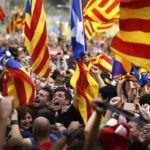 Catalan towns take down Spanish flags