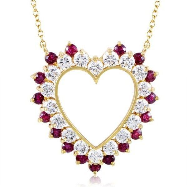 The 25 best ruby heart necklace ideas on pinterest dragon 18k yellow gold diamond ruby heart pendant aloadofball Gallery