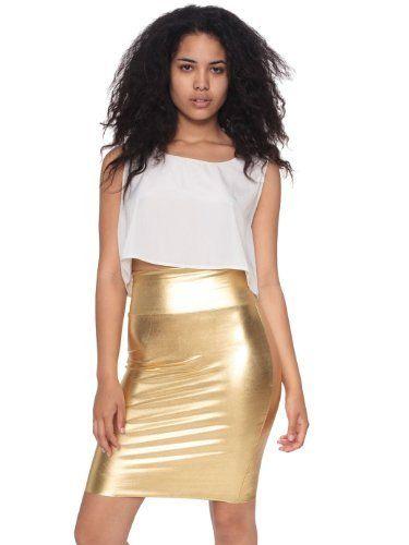 American Apparel Shiny Pencil Skirt American Apparel. $40.00