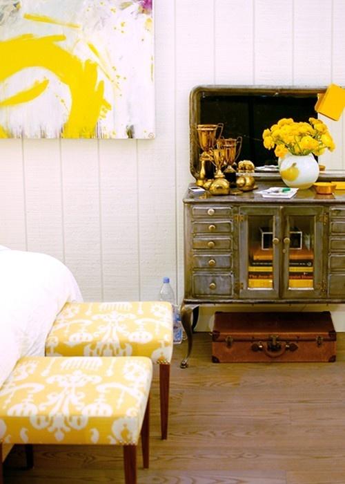 25+ Best Ideas About Yellow Ottoman On Pinterest