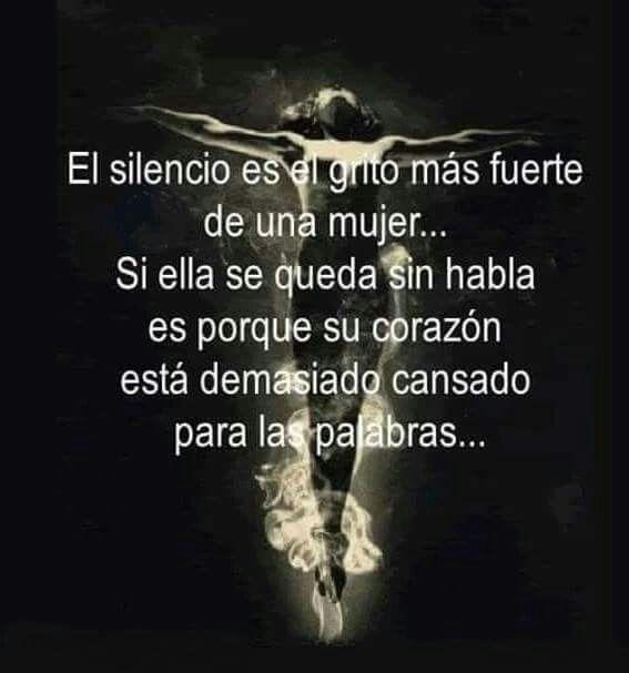 El silencio es*...
