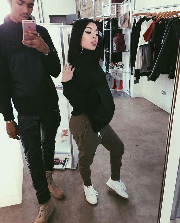 parejas botín negro
