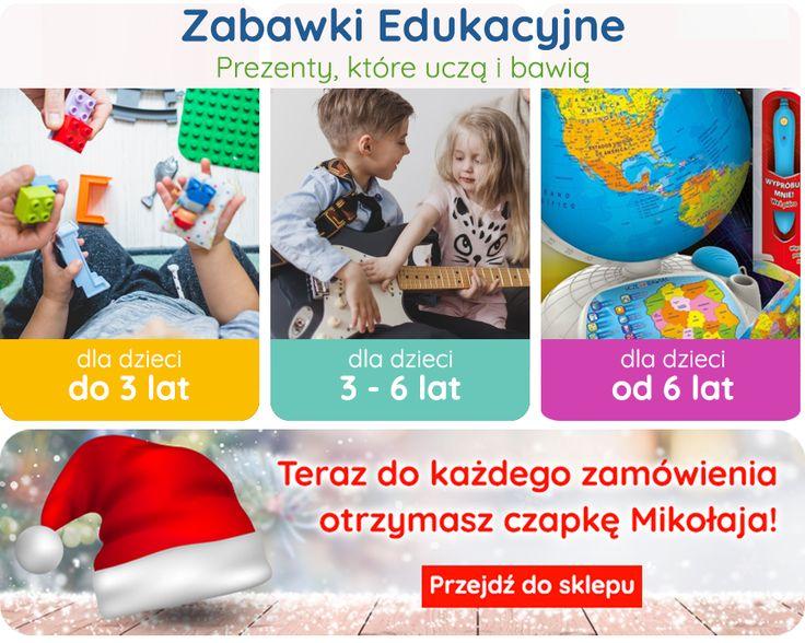 Zabawki edukacyjne - czyli mądry prezent! GRATIS - do każdego zamówienia czapka 🎅Mikołaja!  👉do 3 lat: http://bit.ly/2B3YDKU 👉od 3 do 6 lat: http://bit.ly/2jywghw 👉od 6 lat: http://bit.ly/2BBAIDK  Gwarancja dostawy przed świętami. #zabawki #edukacyjne #promocja #dladzieci #brykacze #podchoinke #prezent