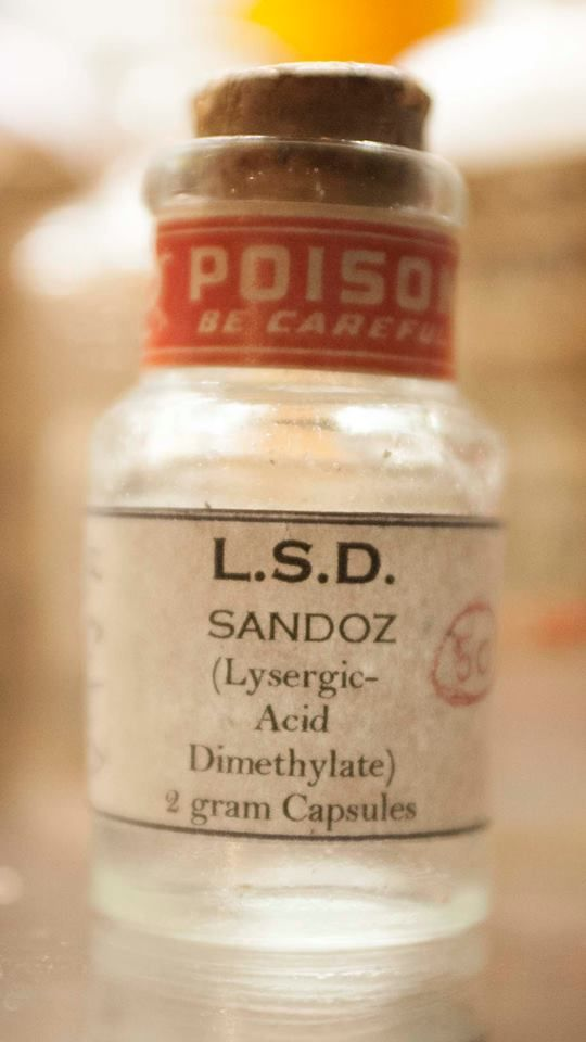 ONE IN A MILLION!! New addition to my poison/quack medicine collection! 1947-1959 Sandoz Pharmaceuticals L.S.D. (ACID) UCLA Testing/Research Trial bottle. I knew these had to be out there somewhere but NEVER thought I would find one!! The bottle itself is a very crude, early ABM bottle, mold seem go's all the way up through the lip, also has LSD printed/pressed in the top of cork. Very Neat Bottle!!
