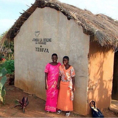 Kingdom Hall in Tanzania. Beautiful local attire. http://ministryideaz.com