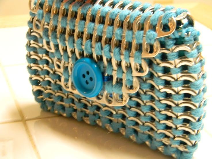 Pop tab clutch purse. $40.00, via Etsy.