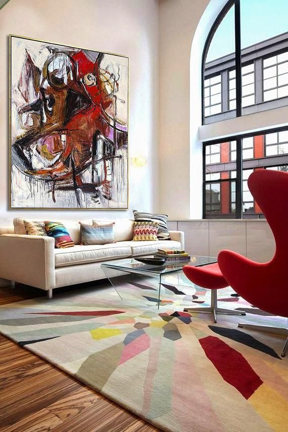 Oil Painting Extra Large Wall Art Contemporary Art Abstract Etsy Large Wall Art Extra Large Wall Art Interior Design Art #wall #art #contemporary #living #room