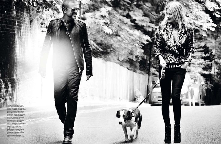Vogue Paris October 2012  Модели: Кейт Мосс (Kate Moss), Джордж Майкл (George Michael)  Фотограф:Марио Тестино (Mario Testino)