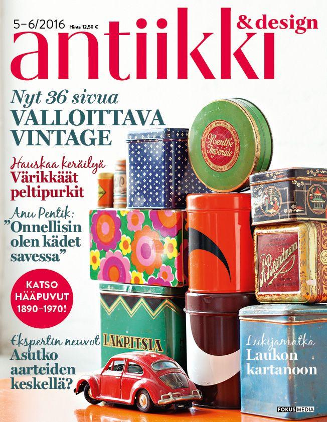Antiikki & Design 5-6/2016 kansi. Photo Pia Inberg. Style Irene Wichmann