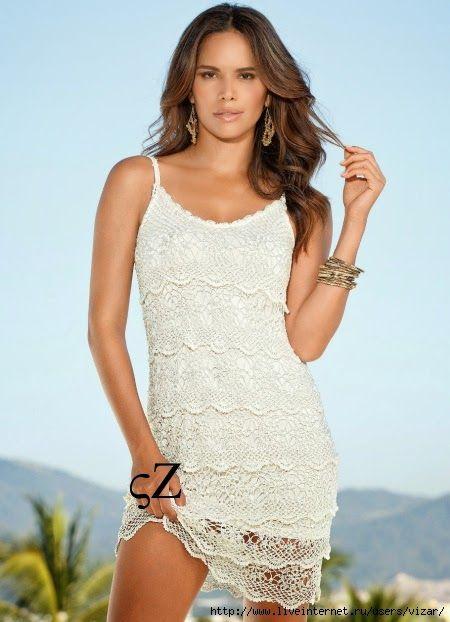 Irish crochet &: Элегантное платье