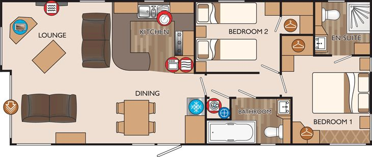 New hampshire series 3 2012 40 x 16 2 bed sleeps 4 floor for 40 x 40 apartment plans