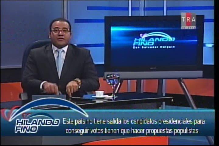 """Salvador Holguín: """"Este País No Tiene Salida Los Candidatos Presidenciales Para Conseguir Votos Tienen Que Hacer Propuestas Populistas"""""""