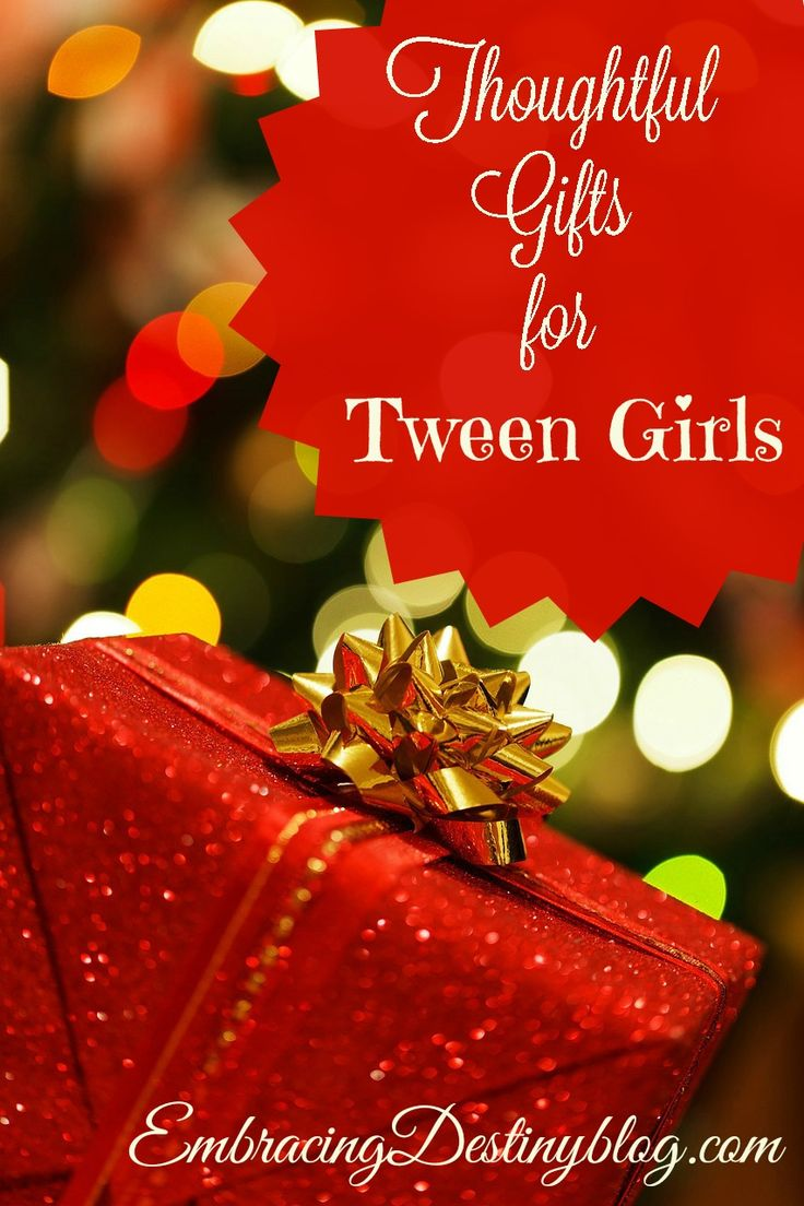 Christmas gift guide for tween girls ~ creative, thoughtful ways to encourage your tween/teen daughter with gifts that recognize she's special. @destinyblogger
