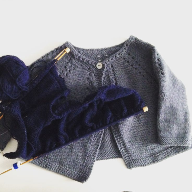 4 / Cardigan for baby by Florence Merlin