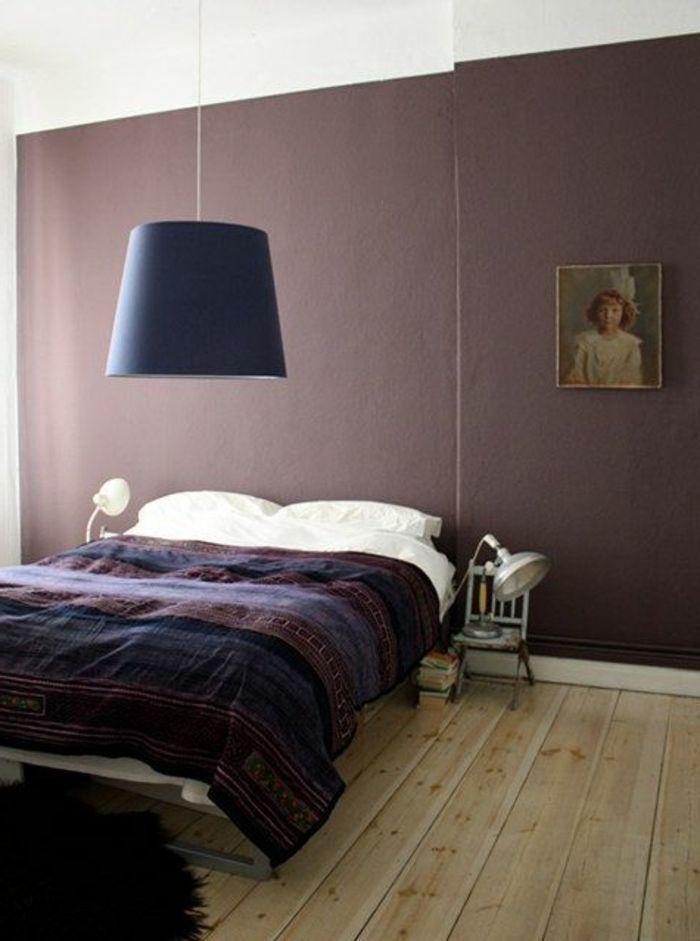 nuancier violet pour les murs dans la chambre a coucher