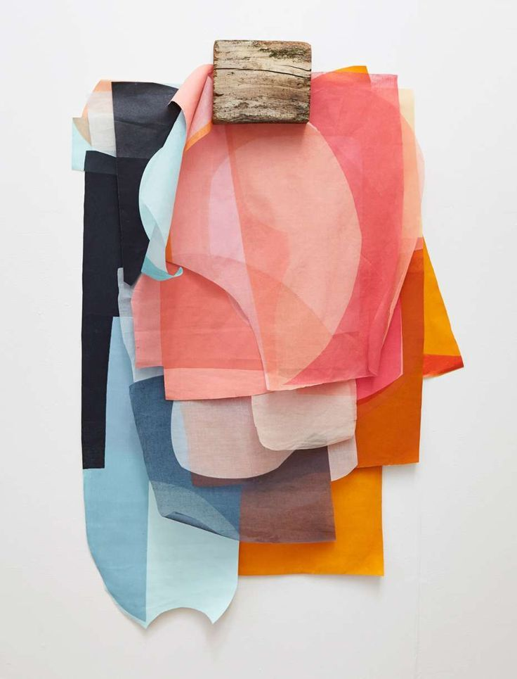 textile print design degree show-Layered Colors