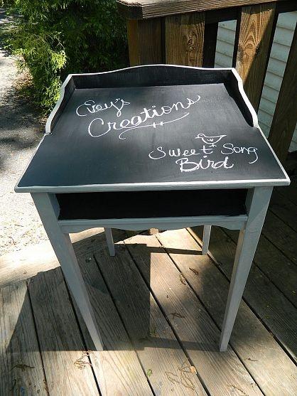 Chalkboard Top Desk Redo