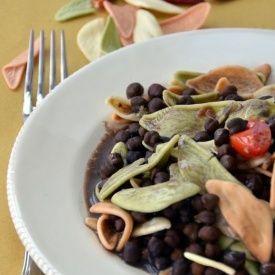 Pasta con ceci neri. Condivisa da: http://blog.giallozafferano.it/mieledilavanda