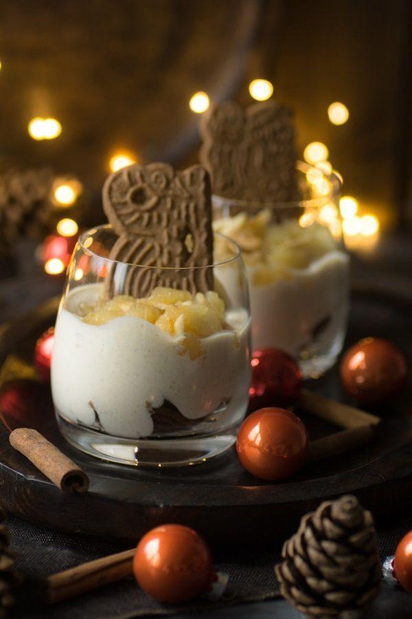 Weihnachtsessen Gut Vorzubereiten.Winterliche Spekulatius Creme Mit Bratapfelkompott