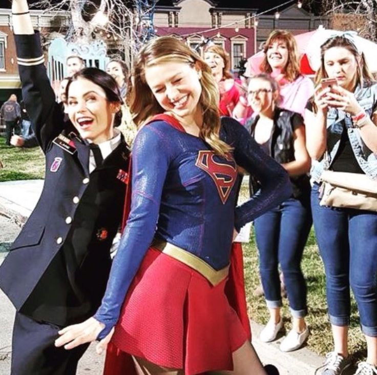 germainlussier: Even #Supergirl was loving Grease Live! #greaselive