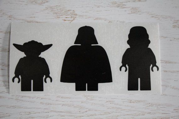 Lego Star Wars Decal Sticker Star Wars Decal Lego by EntropySigns