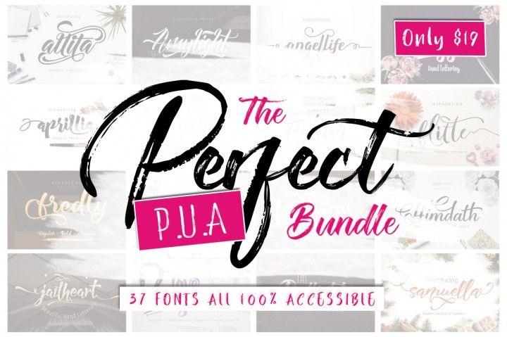 The Perfect PUA Font Bundle By TheHungryJPEG