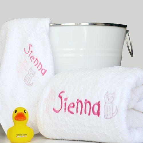 This Unique Personalised Bath Towel Set Includes A Quality Cotton